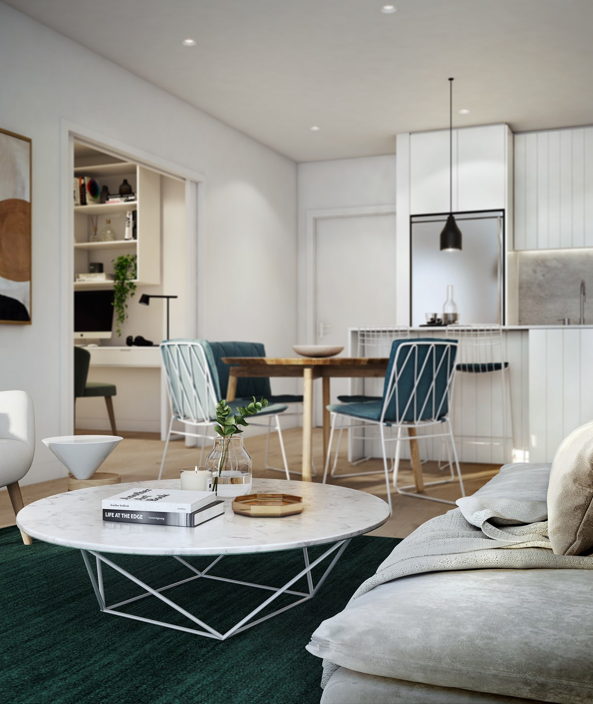 Liberty-One-Render-Footscray-IN04-Type-5-Kitchen-and-Living-with-Study